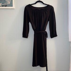 Valerie Bertinelli Open Sleeve Black Dress